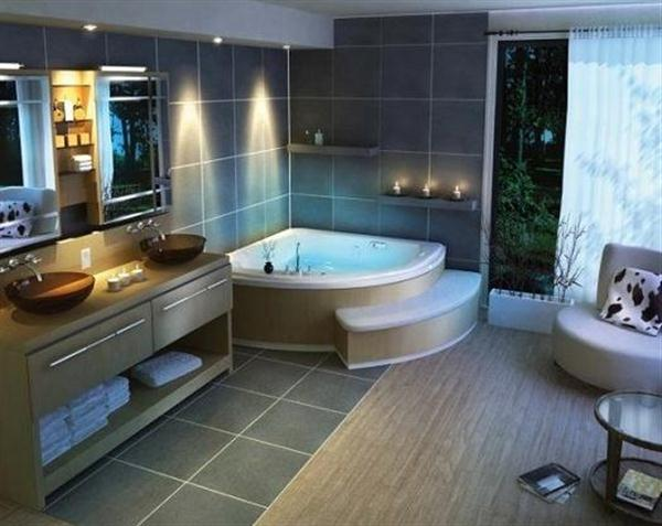 bathroom of modern luxury justin bieber house with awesome lighting ideas
