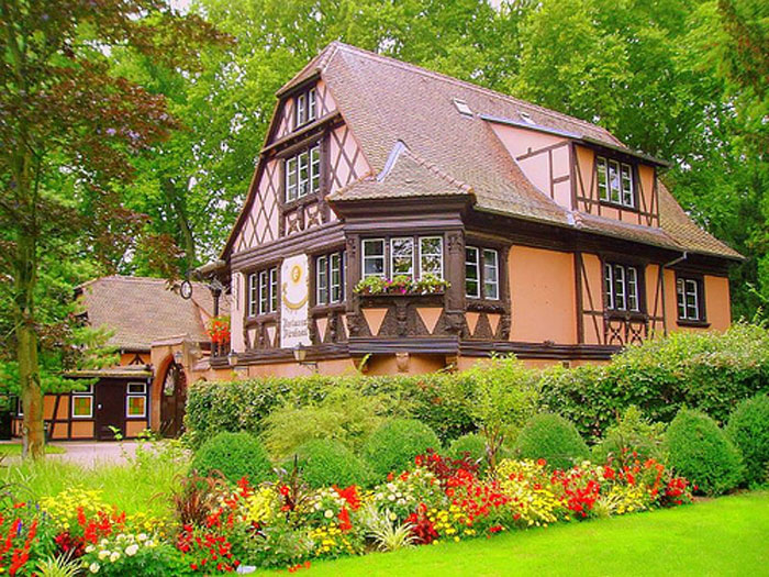 beautiful home with european garden - European Garden Design