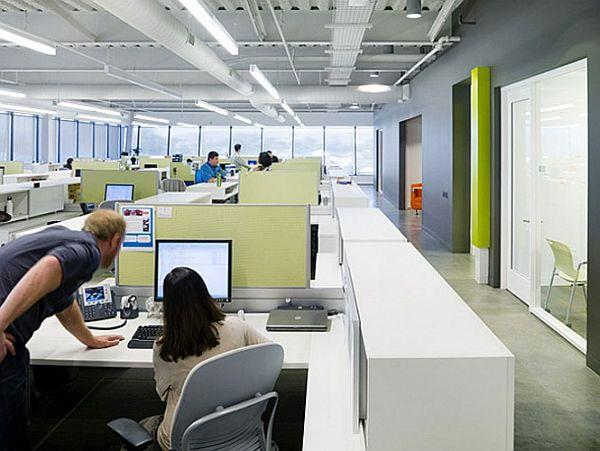 Interior Design Of Belkin Company In Play Vista California Charming Open Ceiling Office Photos