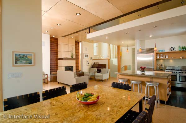 Dining Room And Kitchen Of The Modern California House