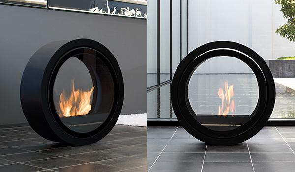 Modern Rolling Fireplace by Conmoto