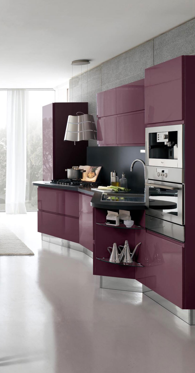 Purple Kitchen Cabinets by Stosa Image : Pictures & Photos | High ...