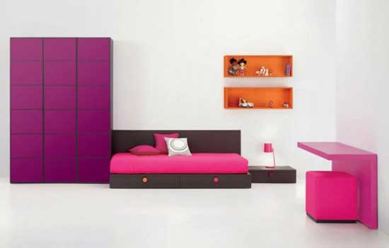 Neat and Purple and Pink Minimalist Teen Bedroom Inspiration