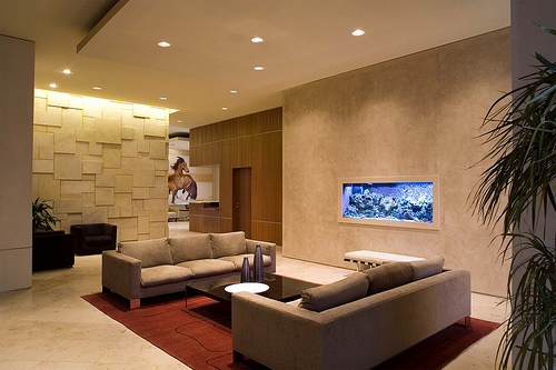 Beautiful Aquarium Interior Design in living room