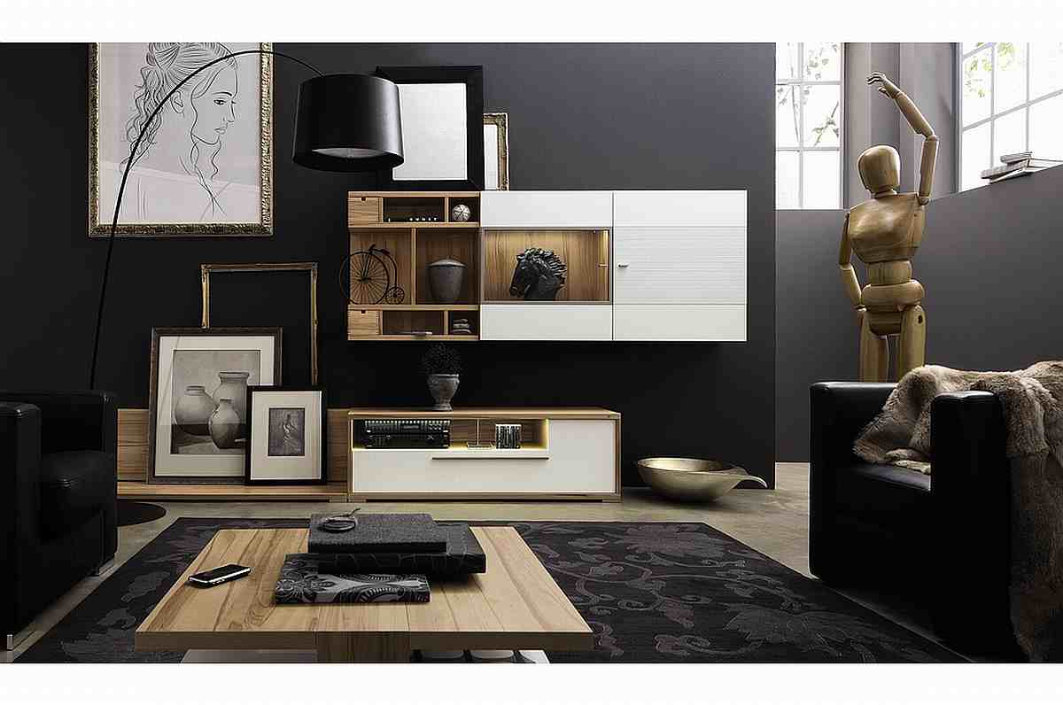 Black Contemporary Living Room