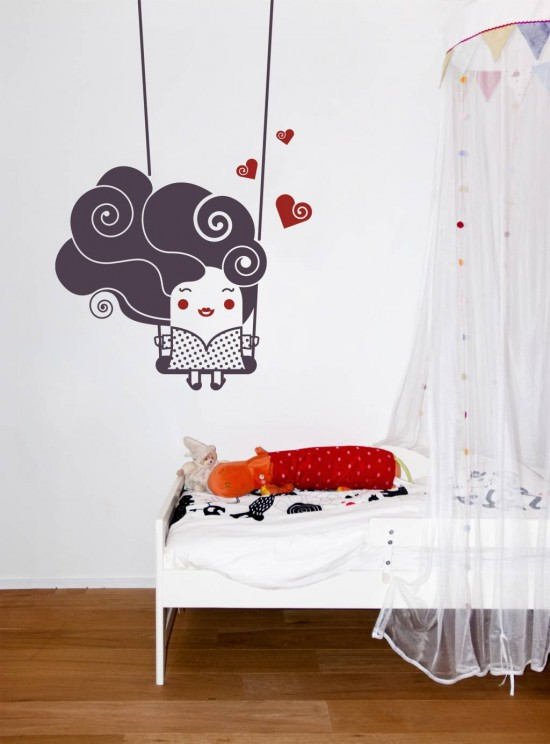 Amazing Trendy wall stickers lovely swing