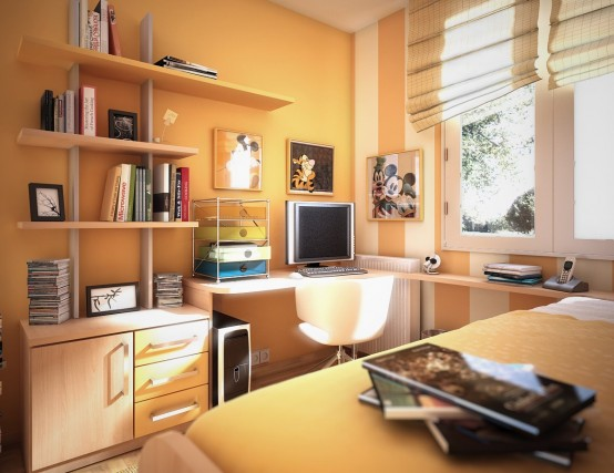 Beautiful Study For Teen Room Ideas