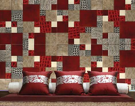 luxurious style wallcover in bedroom
