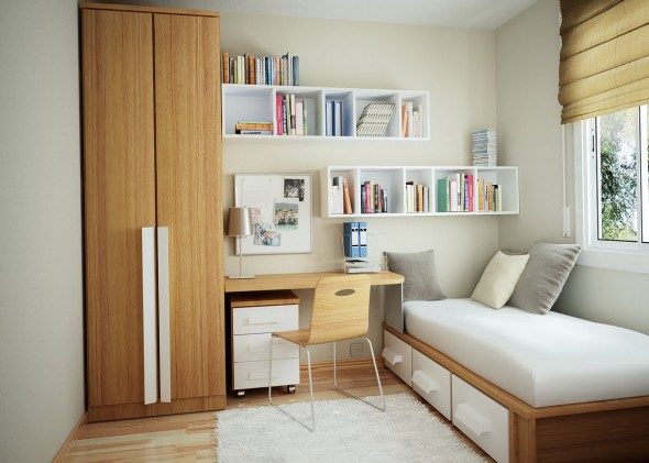 minimal furniture in the Study Rooms Saving Ideas for Small Kids