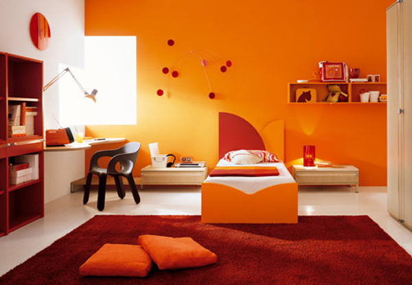Orange Bedroom Interior Design Ideas Image : Pictures & Photos