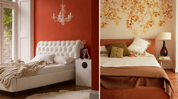 orange interior design ideas bedroom