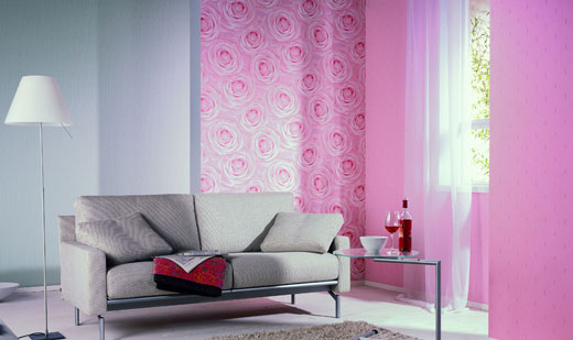 pink wall covering design - Textured Wall Designs