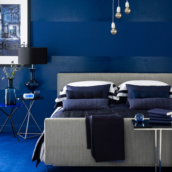 stylish blue color schemes for bedroom interior15. Add Strong Accents stylish blue color schemes for bedrooms Image