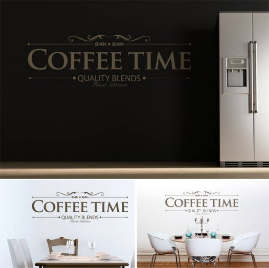 Simple wallsticker coffee time wall stickers