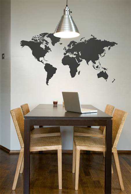 Inspirational wallsticker world map