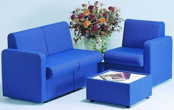 light blue office sofas