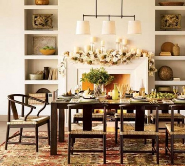 Shelves For Dining Room: Decorating Eating Area: Dining Room Remodeling Tips