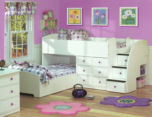 Elegant Berg Furniture Sierra Captains Bed for Two with Stairs Bedroom Decorating Ideas for Creative Kids