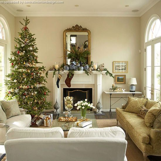 ... Christmas Living Room Fireplace Ideas ...