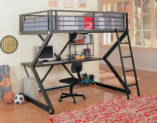 full workstation bunk in black bedroom decorating ideas for creative kids rooms