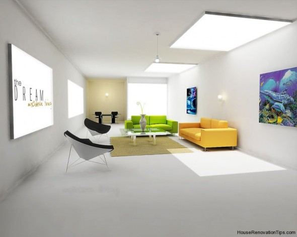 modern Decorating white interior design