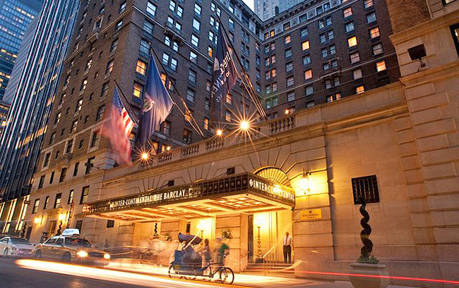Intercontinental the barclay hotel new york home for The barclay