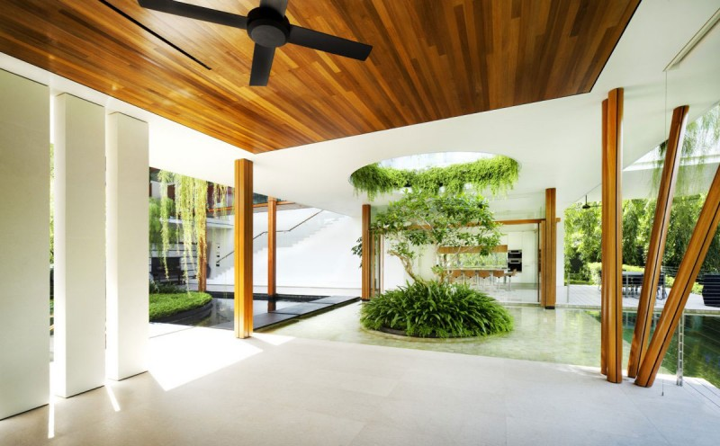Wooden Ceiling-Natural Concept of House Interior – Home Decorating ...