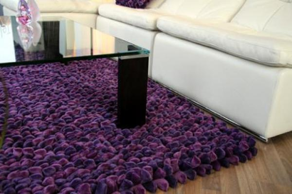 Get Your Perfect Types Of Rugs : Deep Pile Rug In Vibrant Purple Photos